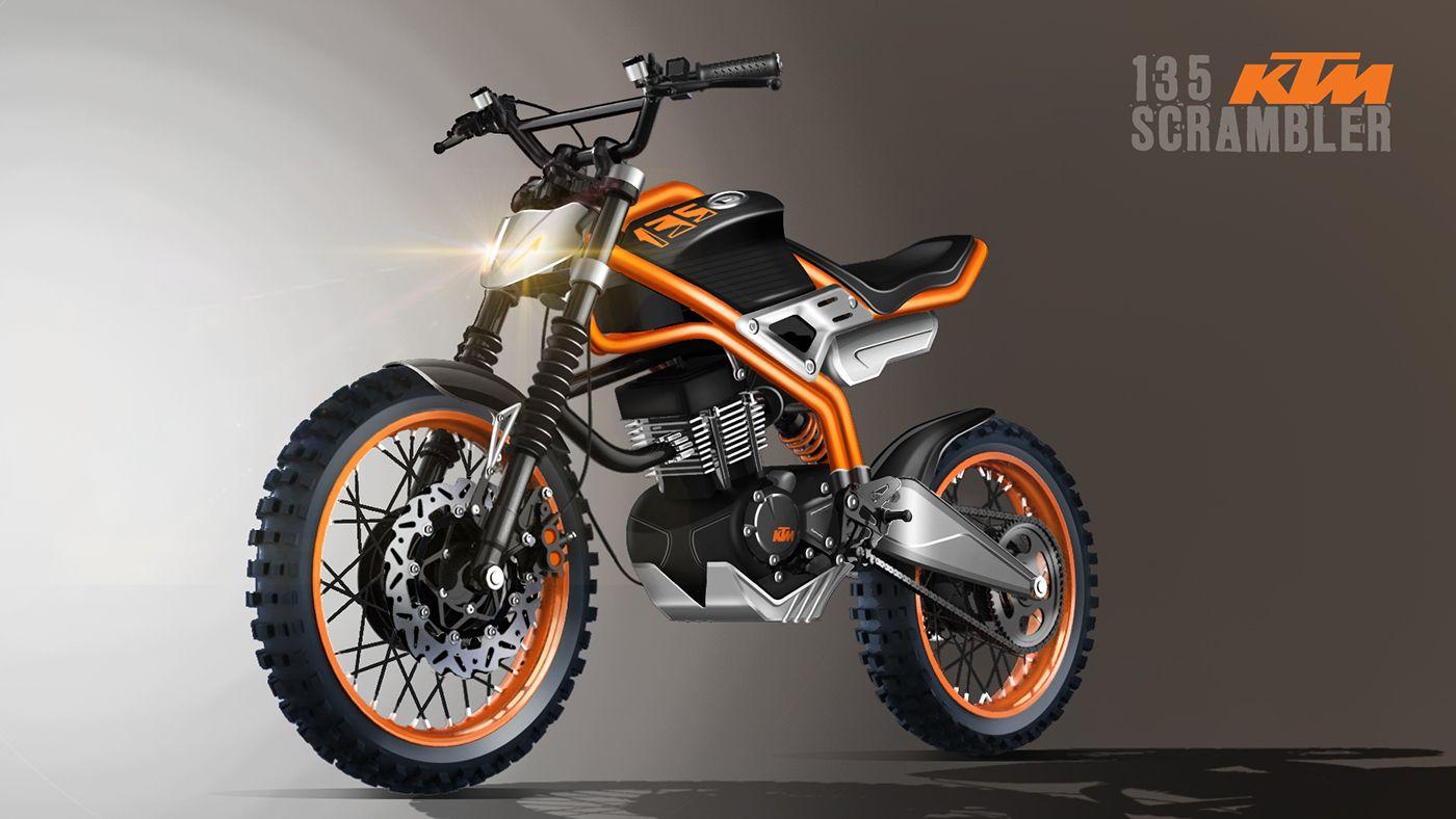 Ktm 135 Scrambler A Low Cost Motorcycle For India On Behance Carros E Motos Moto Scrambler Ktm