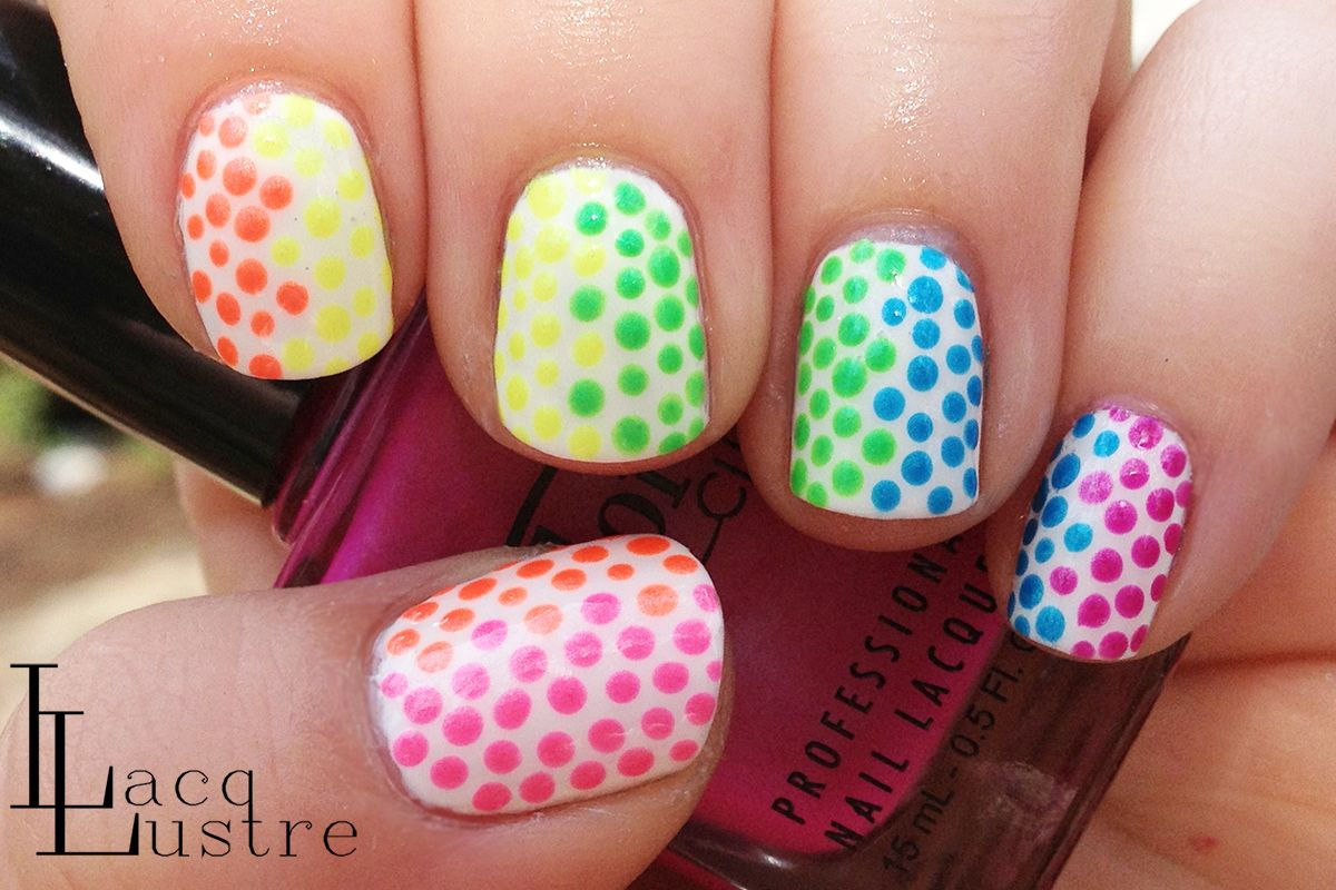 Color Club Collections, Electro Candy Summer 2009 dot nail art