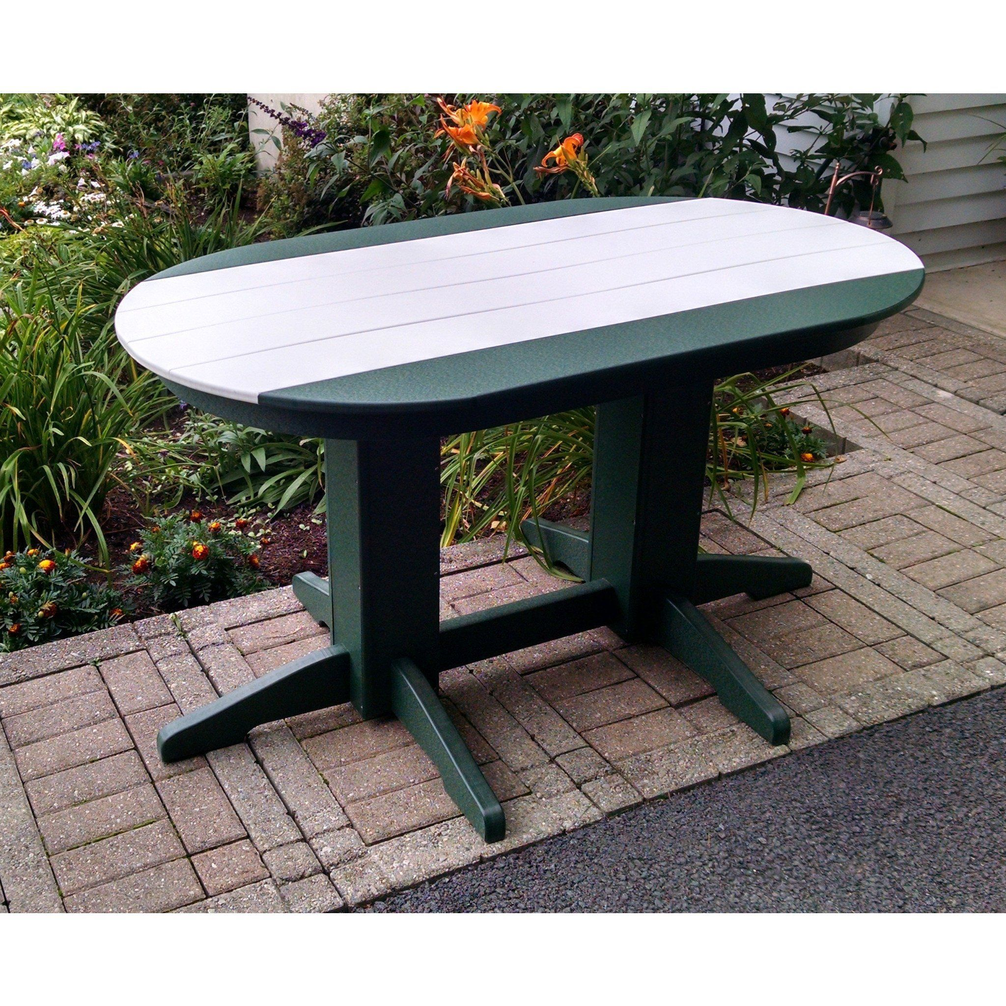 A L Furniture Company Recycled Plastic 5 Oval Dining Table