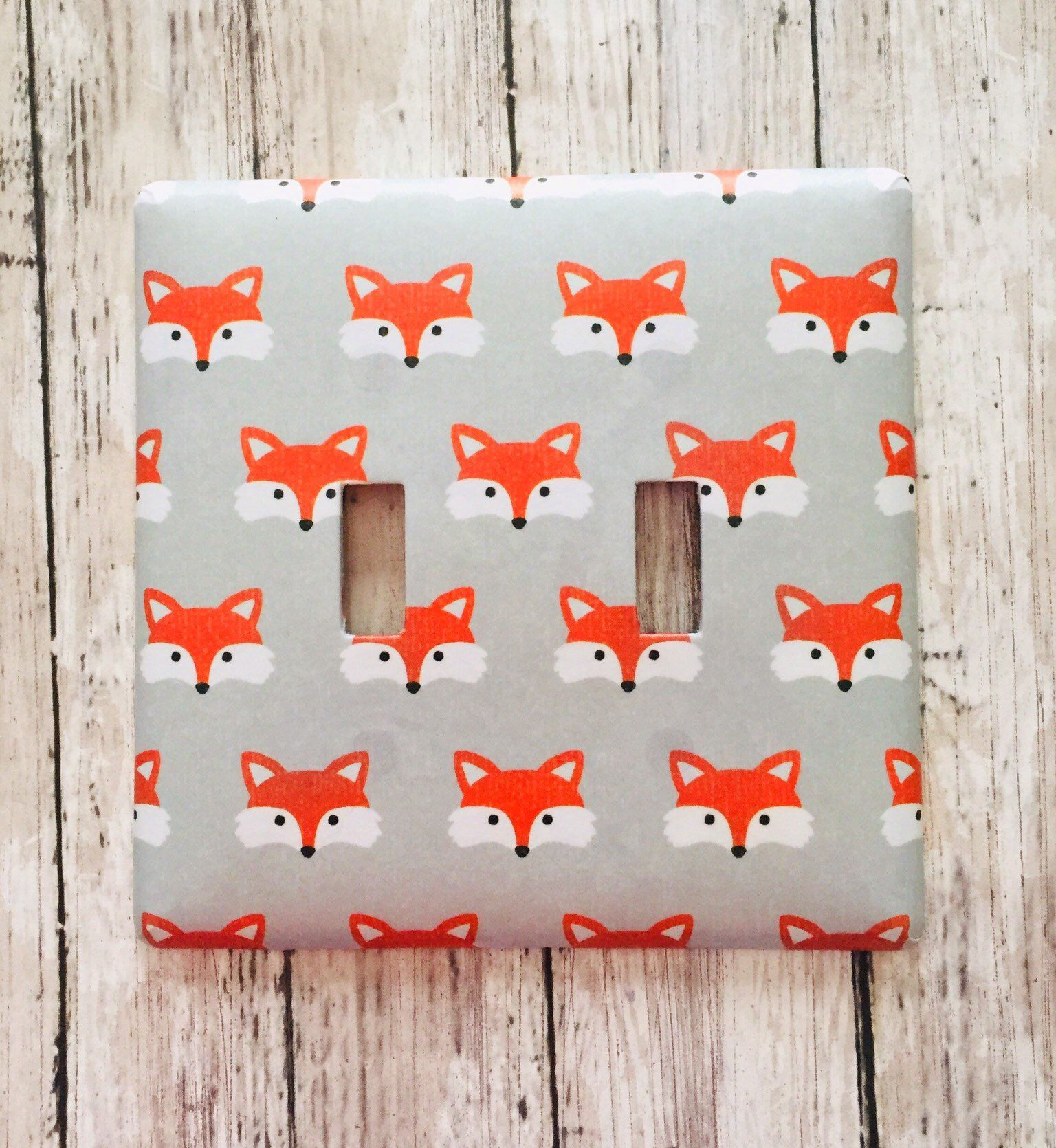 Excited To Share This Item From My Etsy Fox Light Switch Cover Woodland Nursery Plate Bathroom