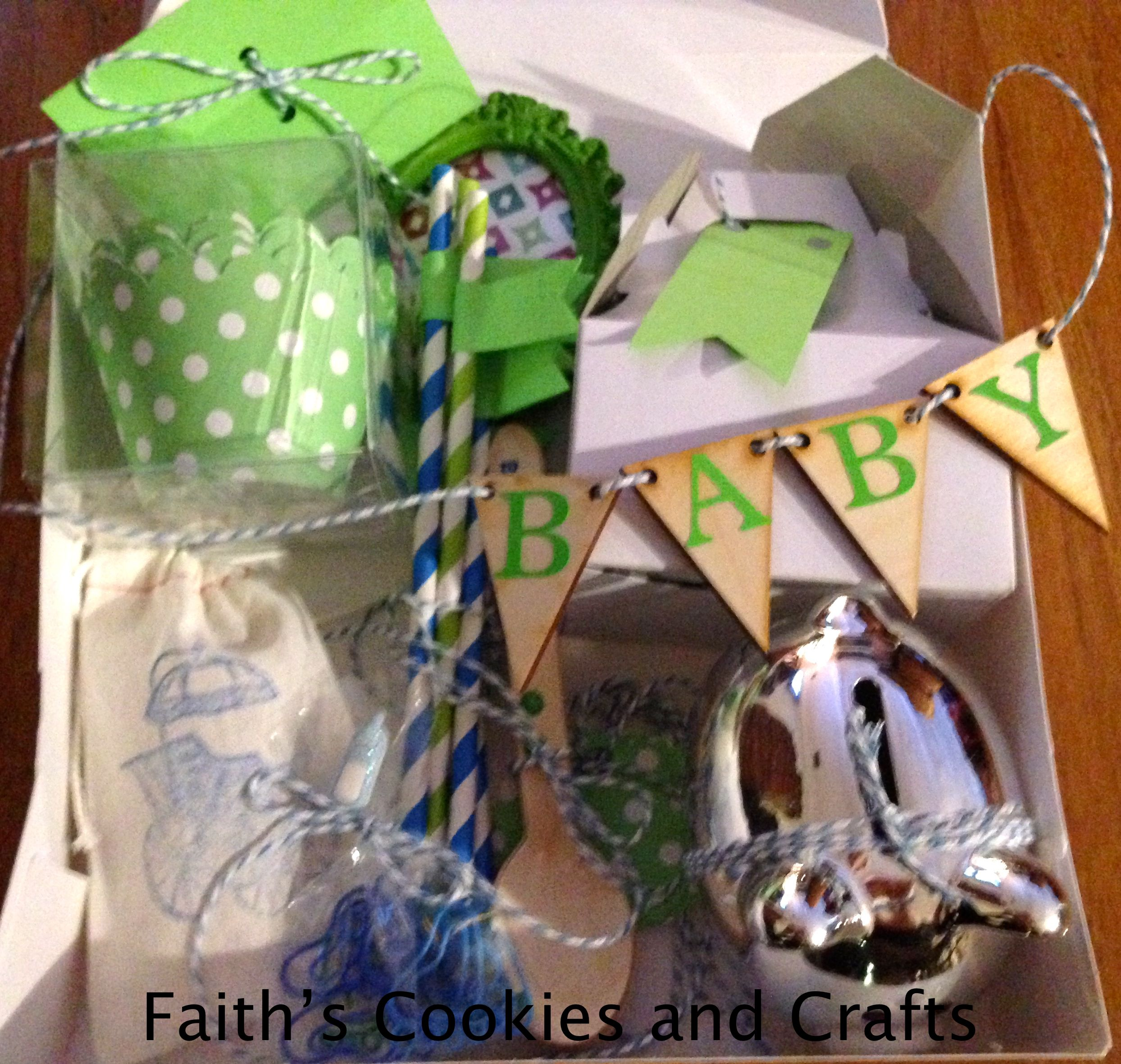 Welcome Baby Boy - Hospital gift - Blue and Green themed ...