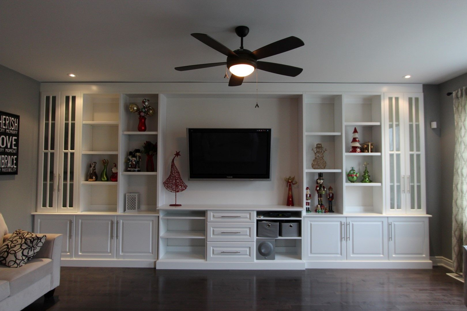 How to build shelves in a wall google search moms book - Wall units for living room mumbai ...