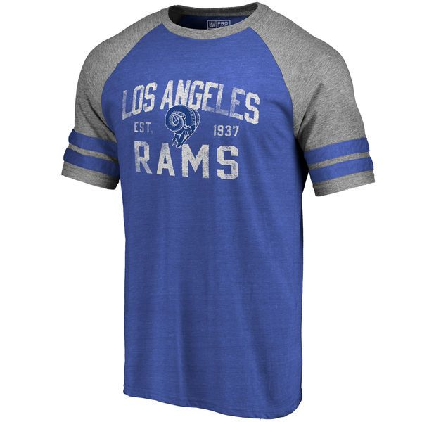 b813c1c46d9 Men s Pro Line by Fanatics Branded Royal Los Angeles Rams Refresh Tenacity  Retro Raglan Tri-Blend T-Shirt