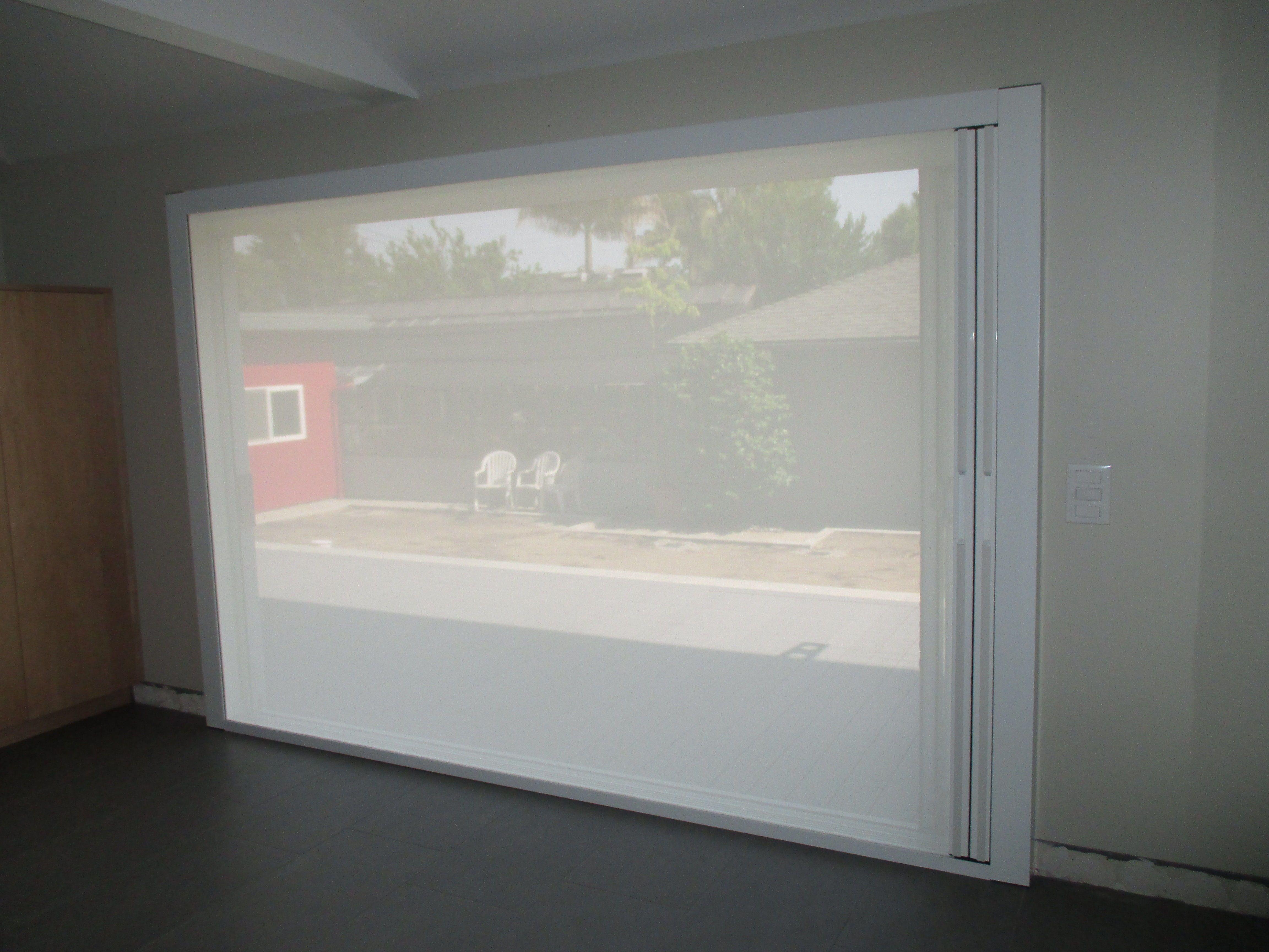 Closet Doors - Retractable Screen Doors | Classic Improvement Products & Our team did a unique installation of a double door Centor Screen ...
