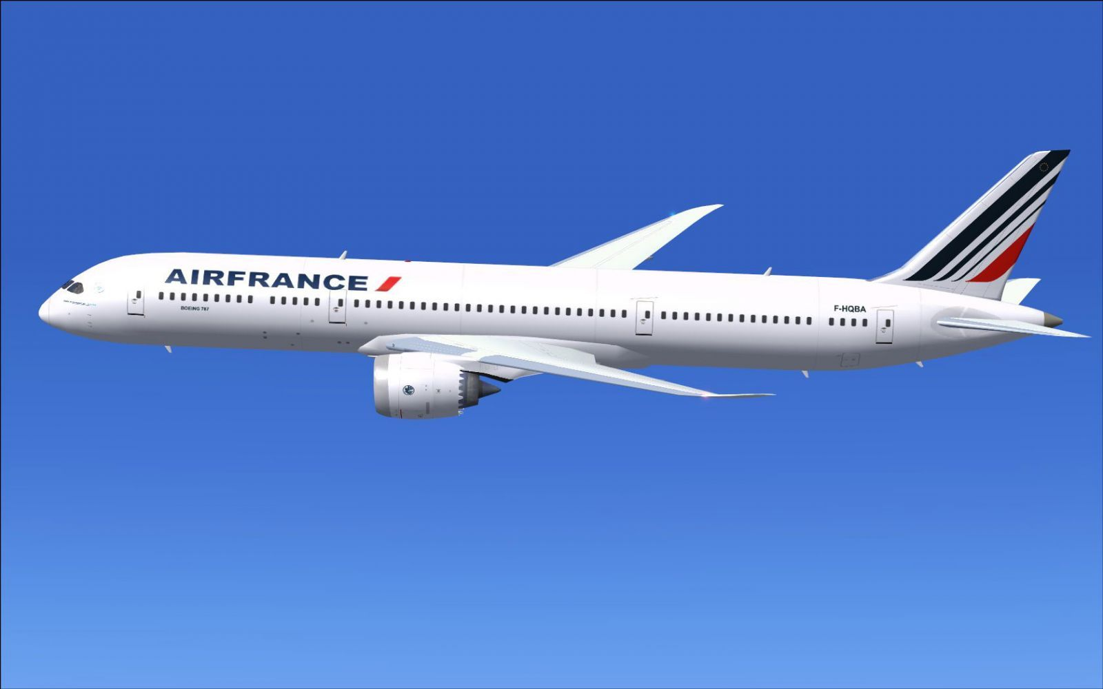 le boeing air france | air france boeing 787-9 in flight. | ferid