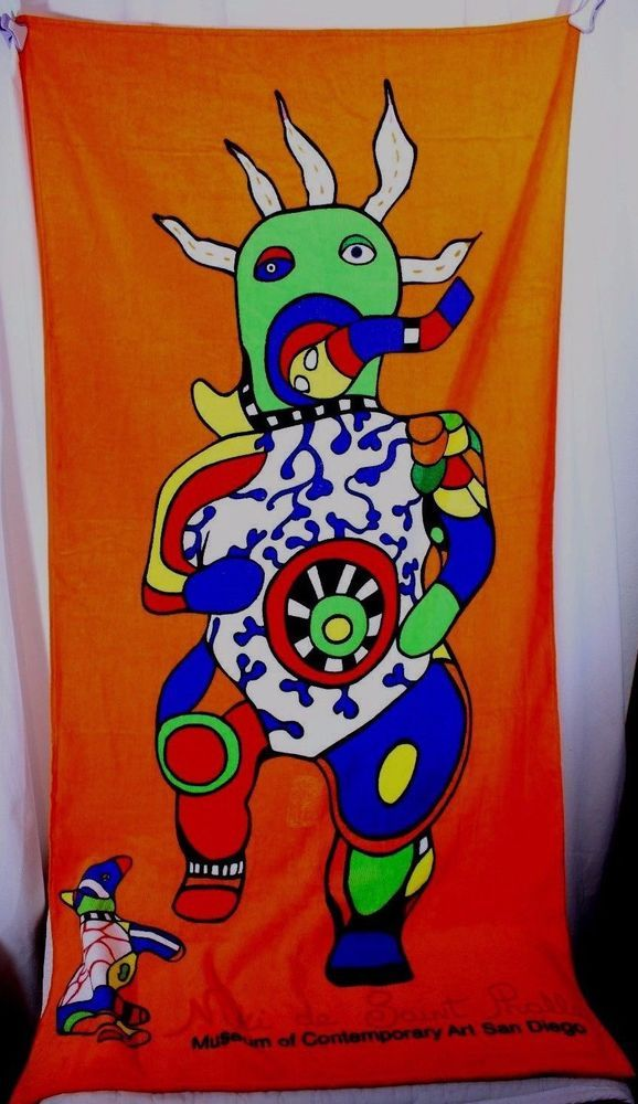 Niki de Saint Phalle Pop Art Beach Towel Museum of Contemporary Art San Diego