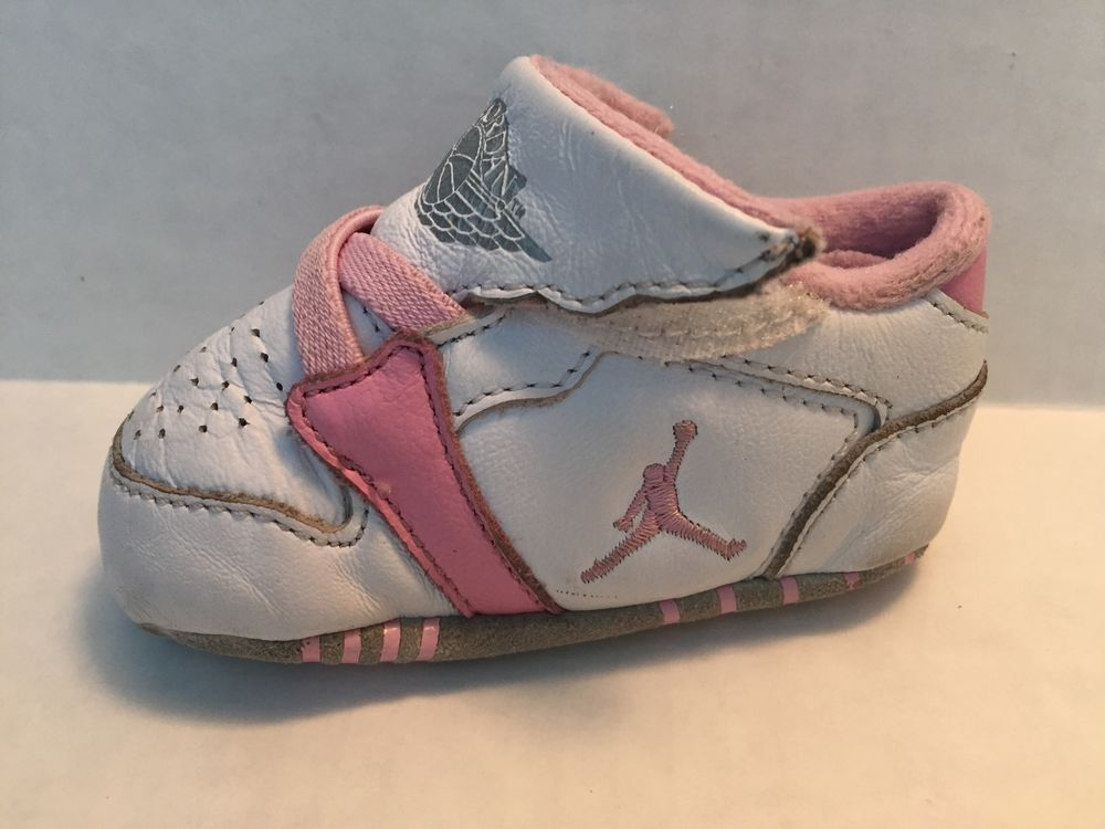 official photos 26939 0673c nike Air Jordan 1st Crib (CB) Baby Girl Shoes Size 2C White ...