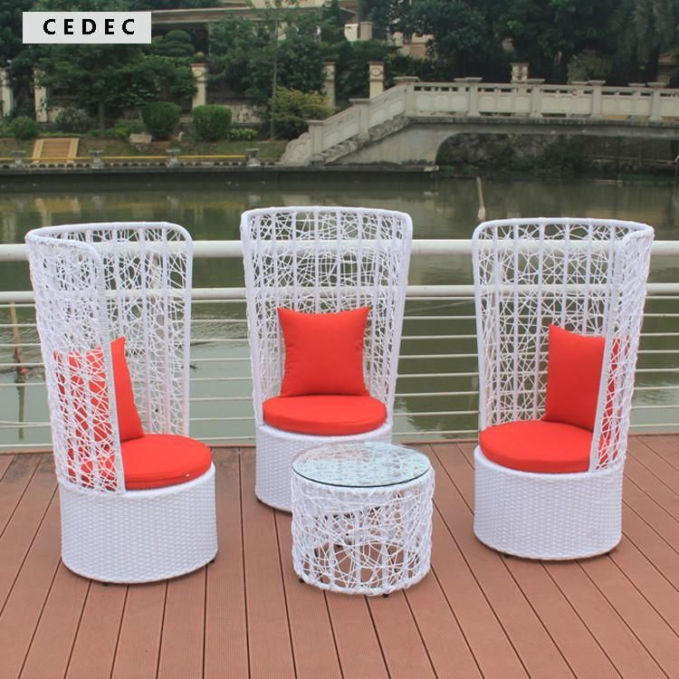 Superb Outdoor Patio Wicker 4 Pc Bar Server Table U0026 High Back Chair Set