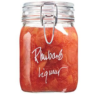 """HOME MADE RHUBARB LIQUOR. CAN I EVEN WAIT FOR SUMMER TO MAKE THIS? I WILL ADD STRAWBERRIES AND THEN SERVE IT WITH PINNACLE WHIPPED CREAM VODKA  AND CALL IT A """"PIE"""" SHOT."""
