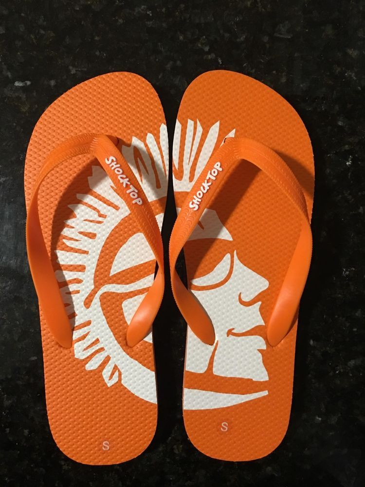 86fef0d08c5f5f Shock Top Flip Flop Sandals NEW Size Small (M 8-10) Orange  fashion ...