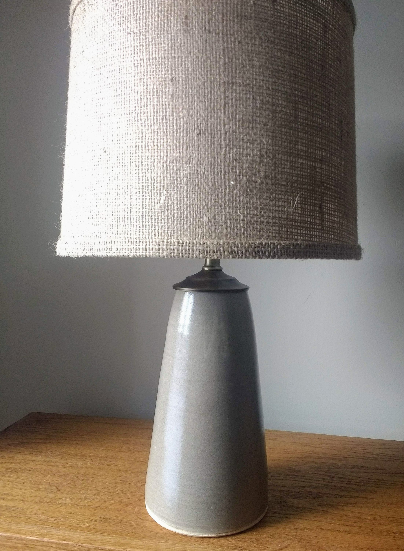 Handmade Table Lamp Pottery Lamp Base Neutral Lamp Unique Home Lighting Ceramic Lamp Ceramic Table Lamp In 2020 Ceramic Lamp Pottery Lamp Lamp Bases