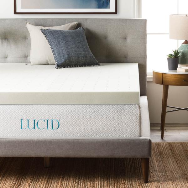 Lucid 4 Memory Foam Mattress Topper Cal King Memory Foam Mattress Topper Mattress Affordable Mattress