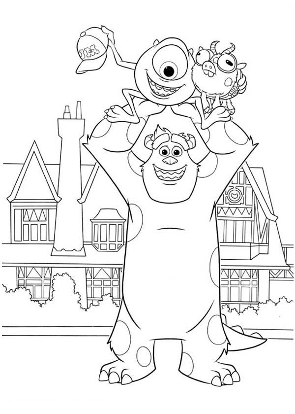 monsters university mike coloring pages - photo#29