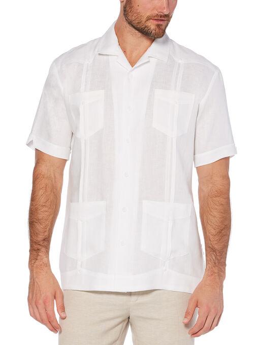 Men S 100 Linen Short Sleeve Guayabera Shirt Cubavera Guayabera Shirt Guayabera Men Short Sleeve