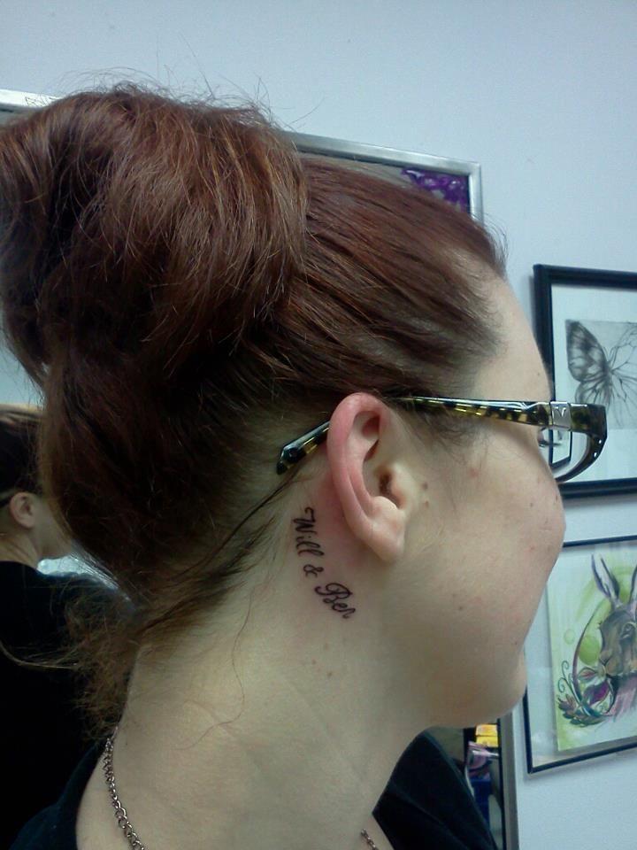 Kids Names Behind The Ear Tattoo Tattoo Ideas Pinterest Name