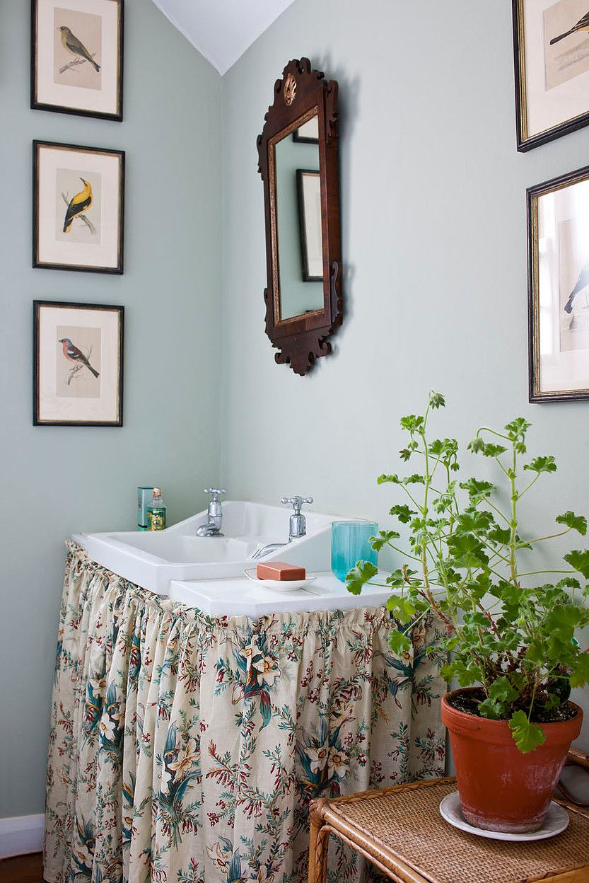 The English Home Christopher Drake Country Bathroom Decor Narrow Bathroom Designs Bathroom Design New country housepowder room