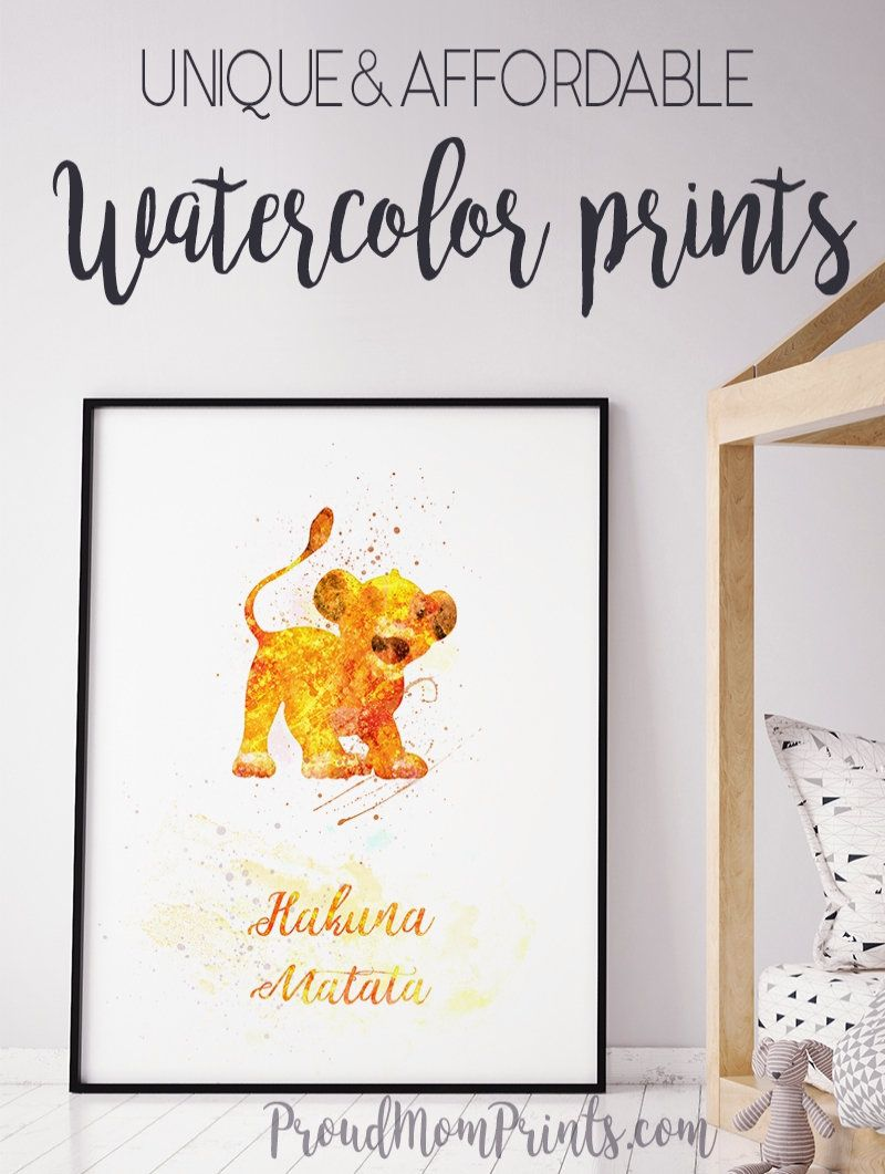 Lion King Hakuna Matata Quote Wall Art Print