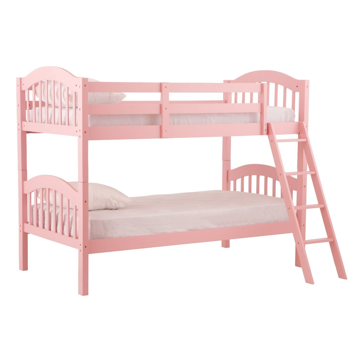 Stork craft pink long horn bunk bed girls gone pink pinterest