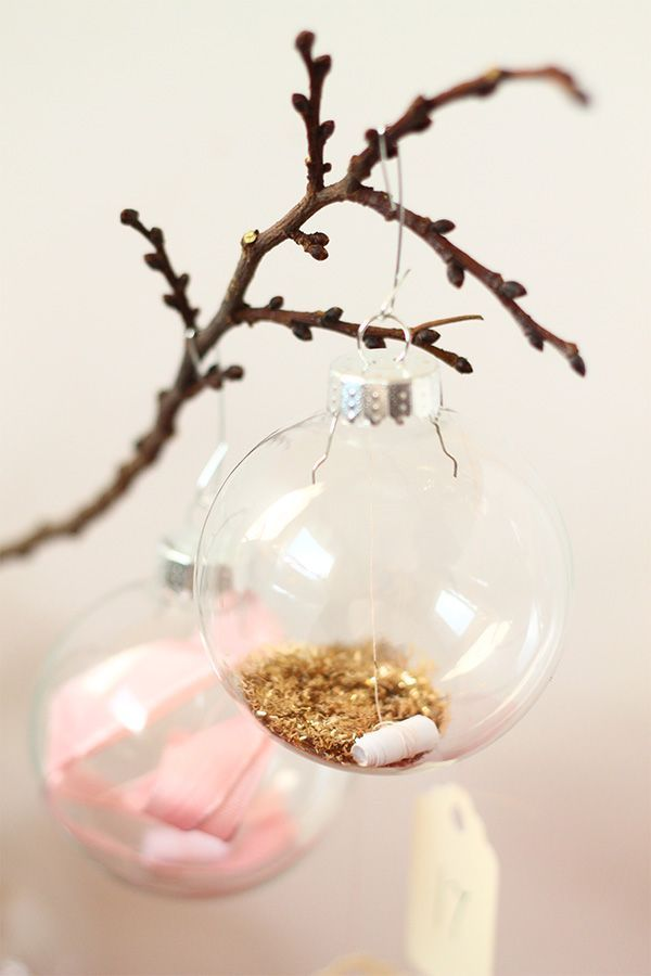 DIY Message in an ornament advent calendar | Squirrelly Minds