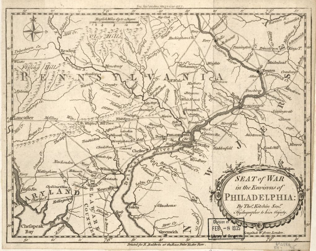 Seat of war in the environs of Philadelphia: | Library of