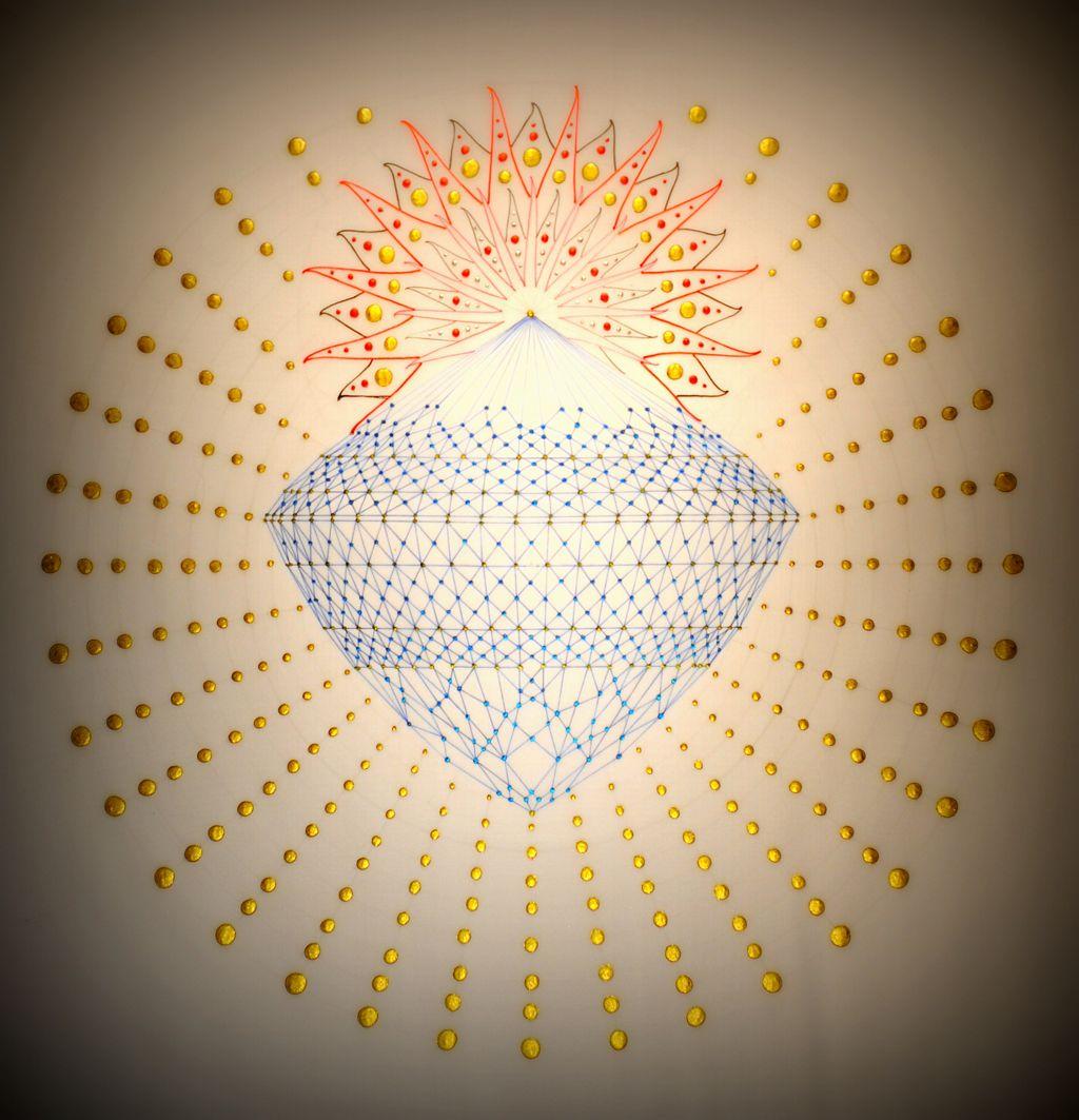 Blue diamond sunrise by mark golding sacred geometry