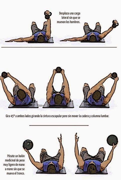 ABDOMINALES: Estabiliza el tren superior con ejercicios que retan a la rotación