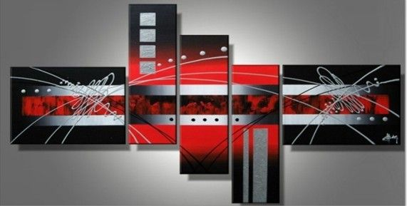 Hot Sell New 4pc Huge WALL Modern Abstract On Canvas