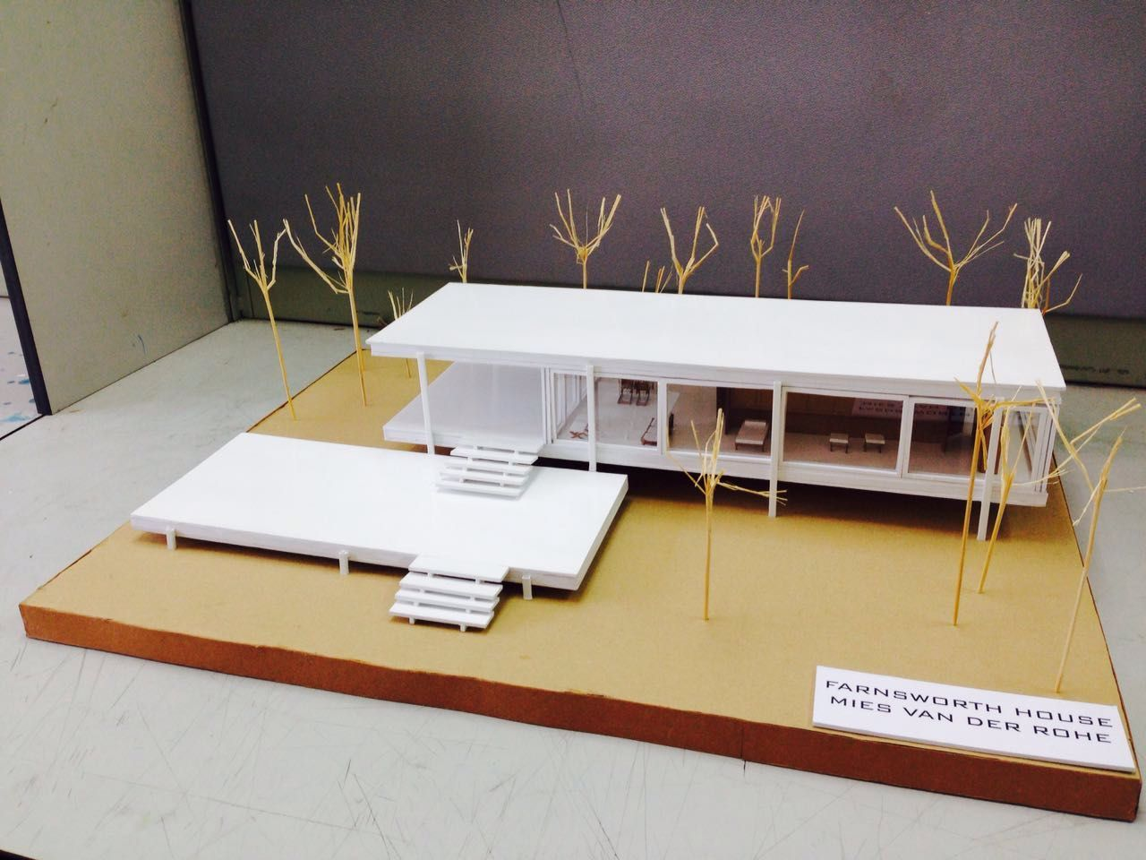Farnsworth House model Mies Van Der Rohe by first year