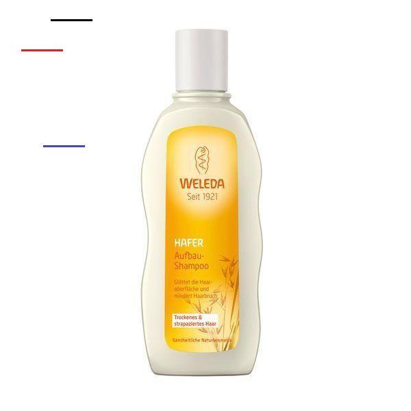 Weleda Hafer Aufbau Shampoo - #organichaircare - Das Hafer Aufbau-Shampoo reinigt mild, glättet die Haaroberfläche und mindert Haarbruch und Spliss, für geschmeidig schönes Haar. Mit Bio-Jojobaöl und Extrakten aus Bio-Hafer und Bio-Salbei gibt es dem Haar seinen natürlichen Glanz zurück. Das an Marzipan erinnernde Aroma der Tonkabohne, Mimose und Zedernholz lassen die Hafer Pflegeprodukte blumig zart duften. Inhaltsstoffe: Water (Aqua), Disodium Cocoyl Glutamate, Disodium Coco-Glucoside Citra...