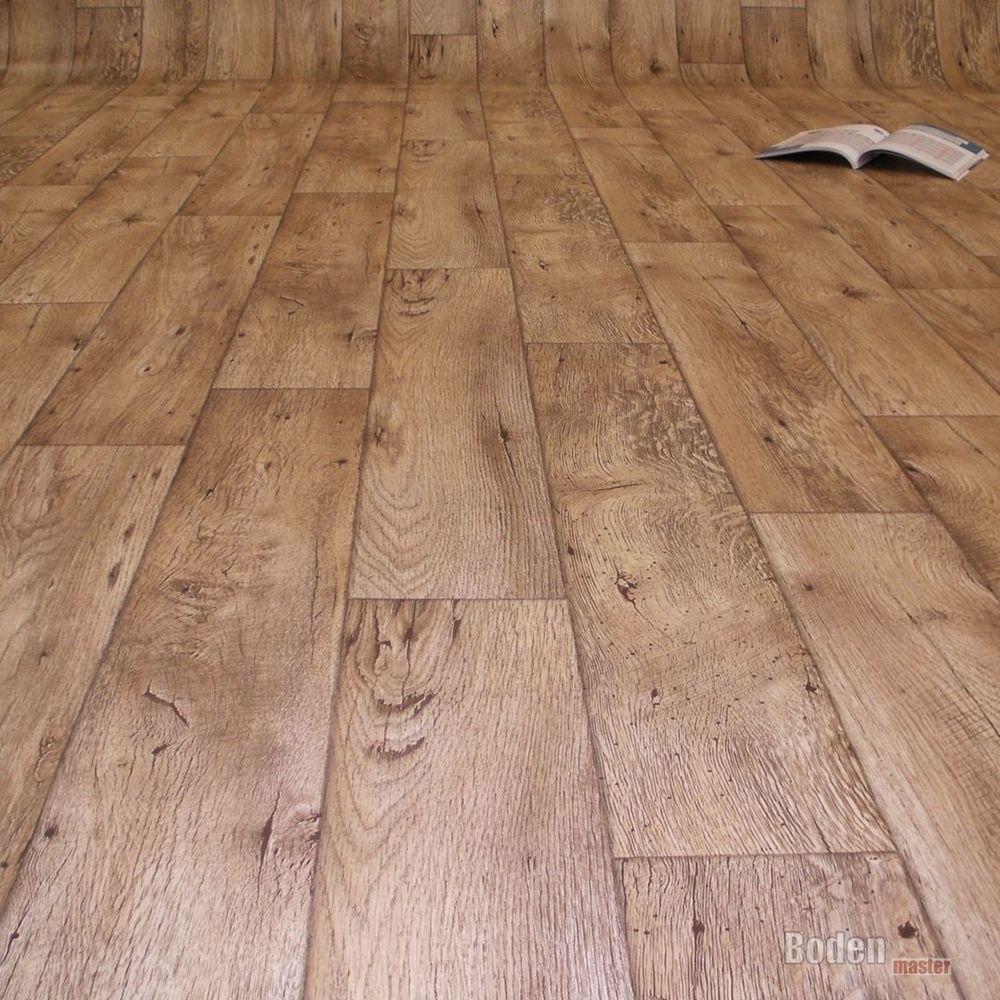 Fabulous PVC Bodenbelag Holz Rustikal Natur Breite 4 m- 1m²/9,50€ | Living UE52