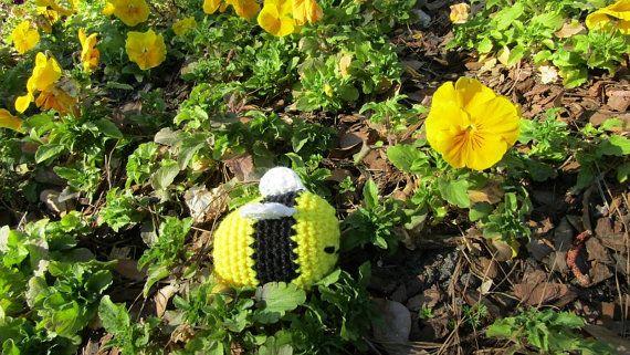 Honey Bee in Plush Crochet  Soft Toy by CoastalCrochetCrafts