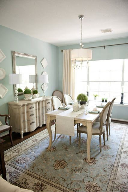 Wedgewood Gray Walls Ben Moore With Images Home Dining Room