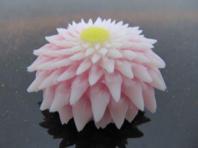 粘土和菓子はさみ菊