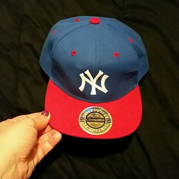 NY hat Snapback Yankee hat blue and red Accessories Hats