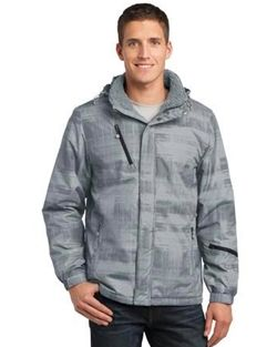 new port authority brushstroke print insulated jacket on men s insulated coveralls cheap id=18511