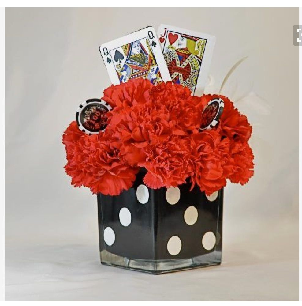 Casino Party Centerpiece In 2019 Casino Themed