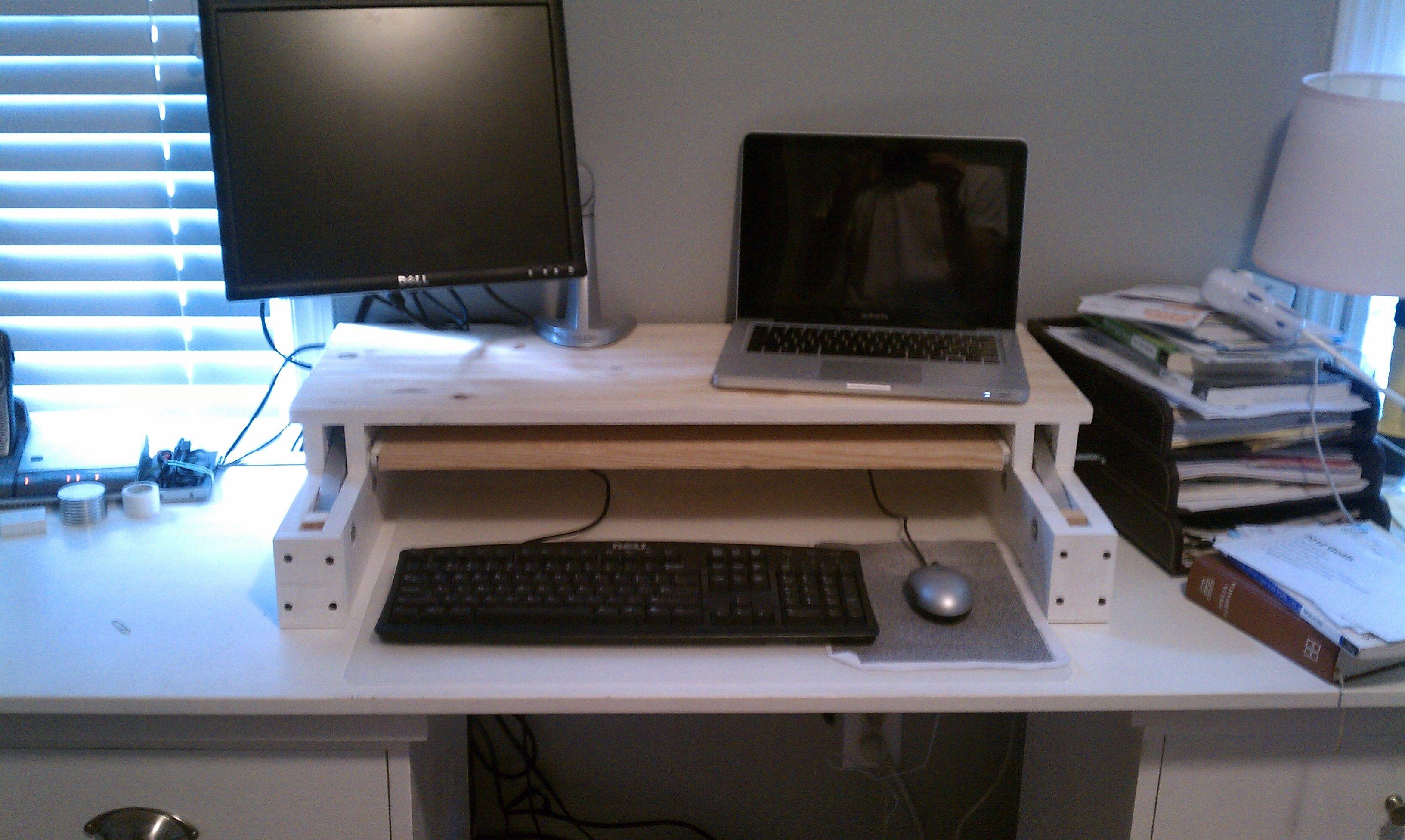 DIY Adjustable Standing Desk for under 25 Adjustable