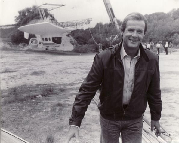 View To A Kill With Part Of The Airship And Sir Roger Moore