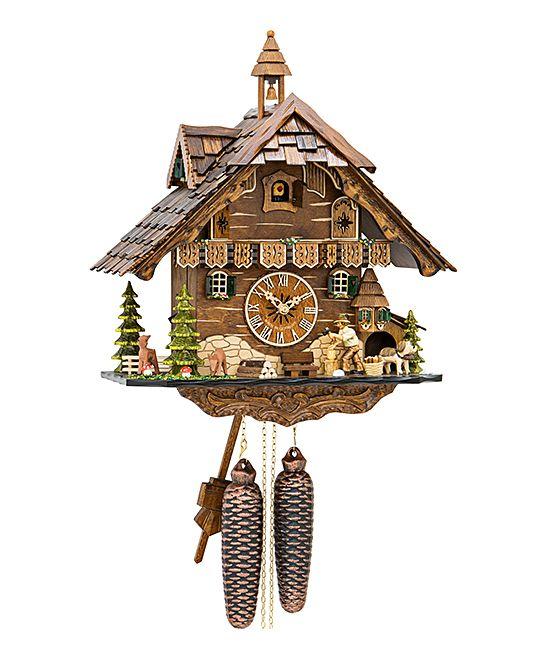 Woodchopper & Bell Tower Weight-Driven Chalet Cuckoo Clock