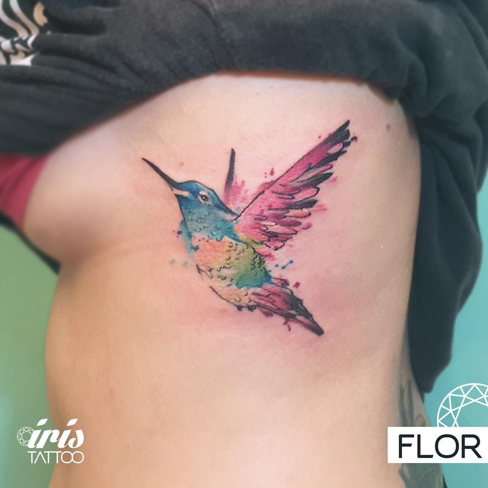De colibri en la espalda significado tatuaje colibri tatuaje tattoo - Colibr Hummingbirdtattoo Hummingbird Watercolortattoo Watercolor Color Iristattoo Colibri Tatuaje De