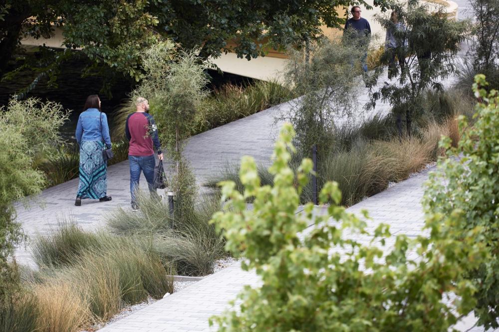 Avon River Park Terraces City Promenade By Landlab Landscape Architecture Platform Landezine River Park Landscape Architecture Terrace