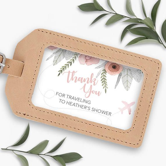 Luggage Tag Insert Custom Favor Beach Wedding Destination Bridal Shower Favors This Listing Is For