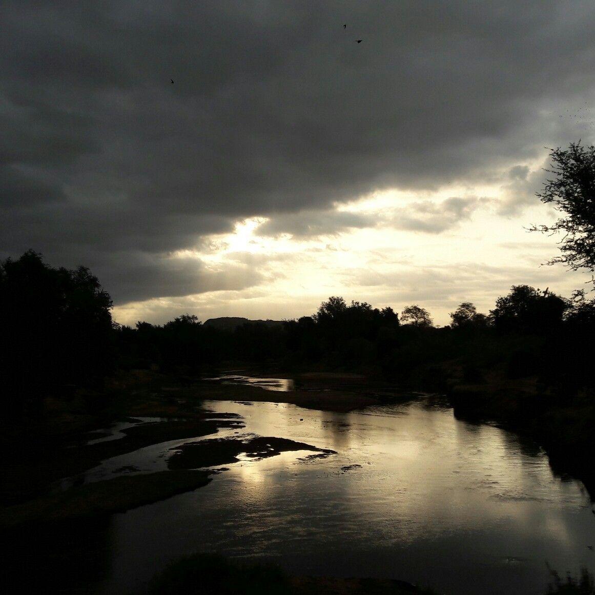 Loving this stunning sunset! The Luvuvhu River bridge in northern ...