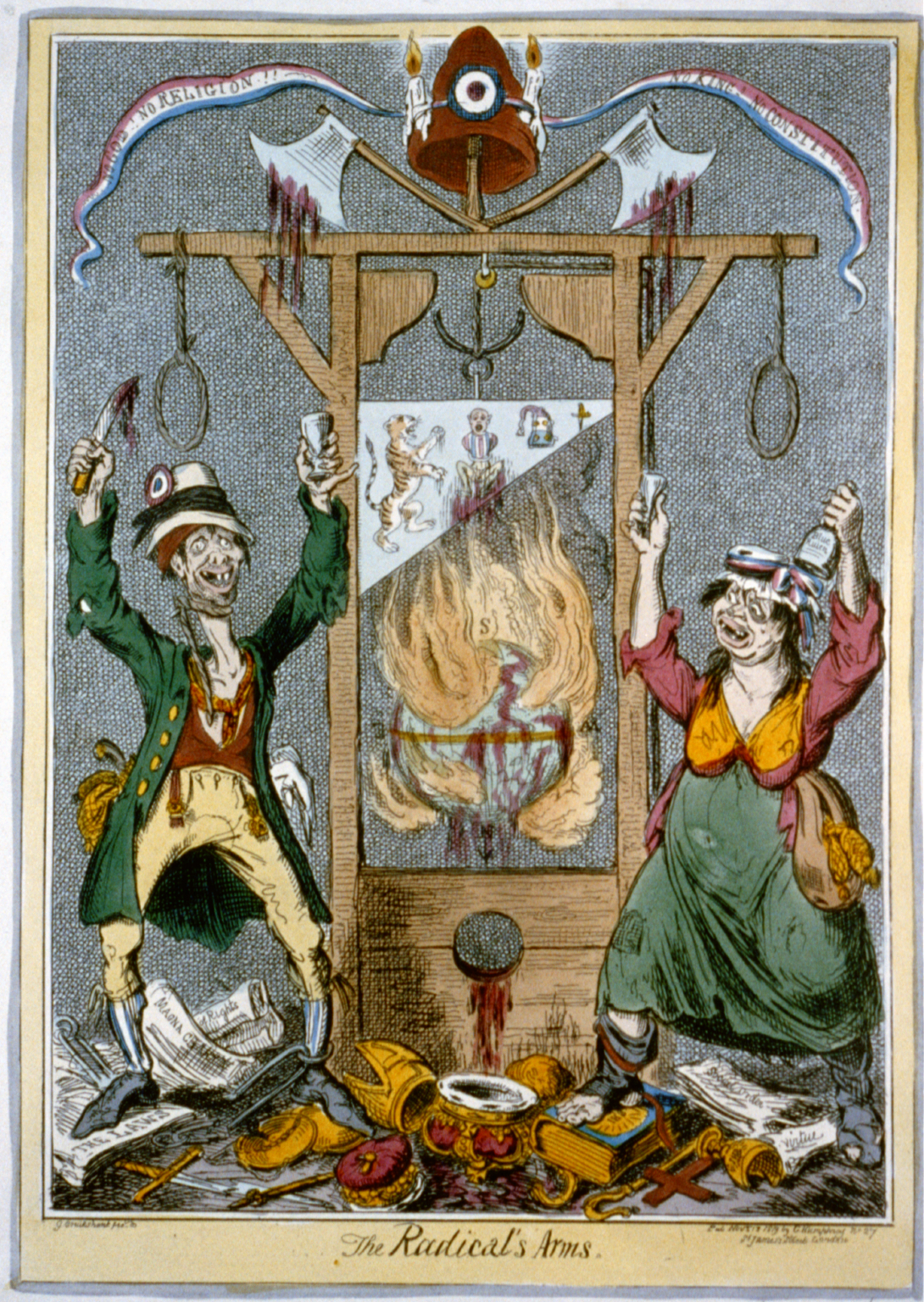 this is a political cartoon from the reign of terror it shows this is a political cartoon from the reign of terror it shows people being executed