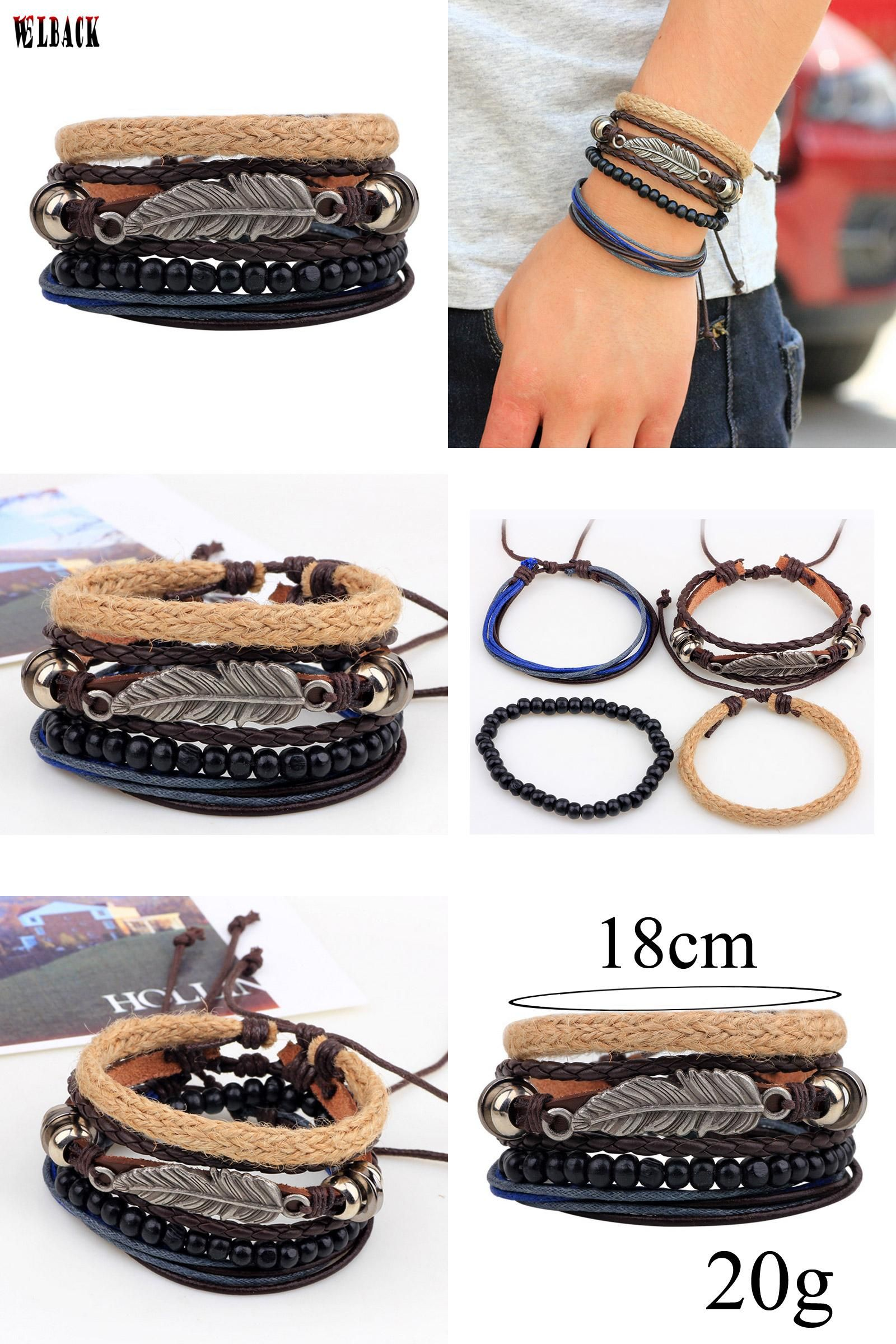 Visit to buy new design multilayer laceup leather popular