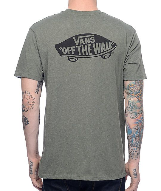 dec4714a2e Vans brings back that OG style with the MV OTW olive pocket t-shirt. The  army green tee features a left chest pocket with a black Vans text logo  over it and ...