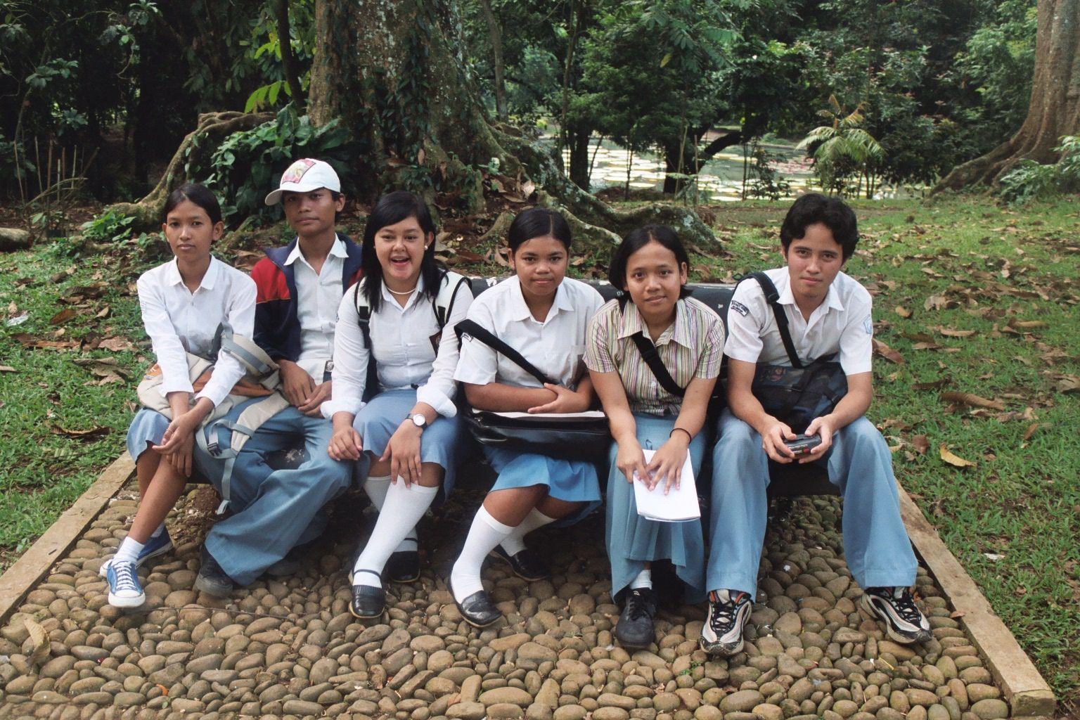 Schoolkinderen op Oost-Java