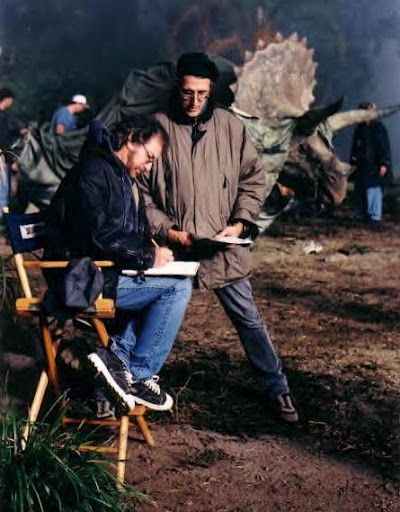 Steven Spielberg and David Koepp on set of Lost World ...