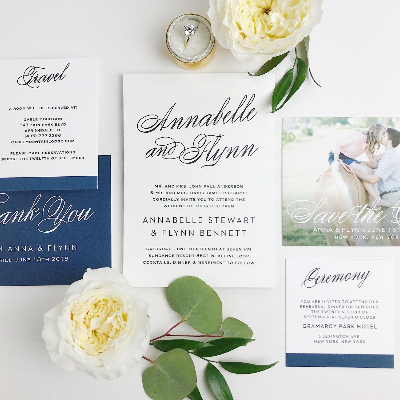 Classic Wedding Invitations + Free Wedding Websites — The