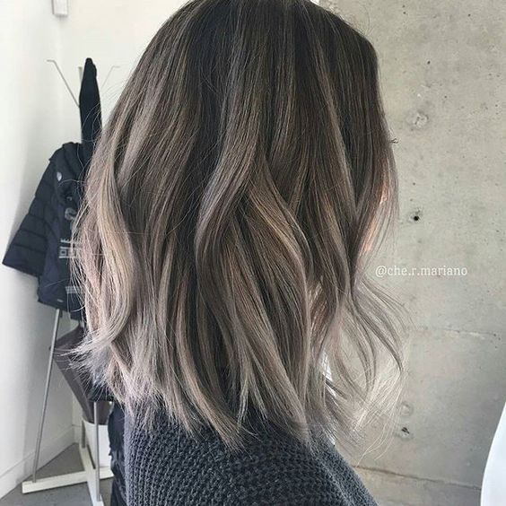 Balayage, Layered Lob Haircut for Thick Hair - Thick Hairstyles for ladies and Girl
